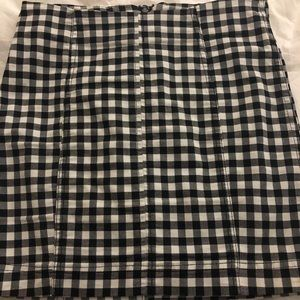 Free people bodycon gingham skirt